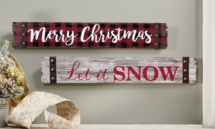 Wood Sign Merry Christmas