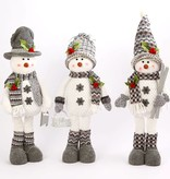 """28""""H Plush Standing Snowman w/ Scarf & Hat, 3 Assorted--choice of one"""