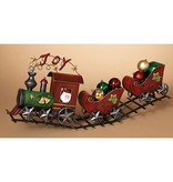"29.5""L Metal Red Holiday Train"