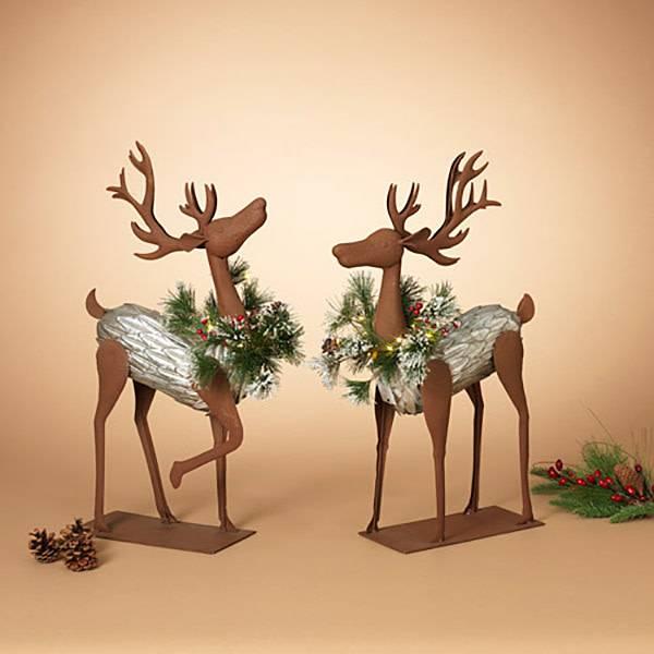 """23.25""""H B/O Metal Deer, 2 Asst--choice of one"""