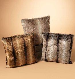 """17.7"""" Faux Fur Pillow, 3 Asst--choice of one"""