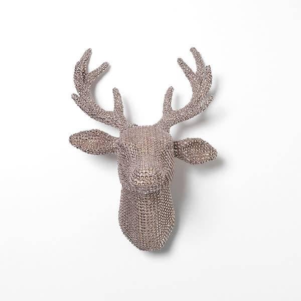 """32""""H Jeweled Reindeer Antler Head"""