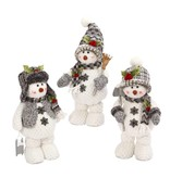 "16"" Plush Holiday Standing Snowman-3/asst--choice of one"