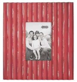 Red Tin Corrugate Frame