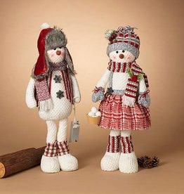 "28""H Plush Holiday Snowman Figurine, 2 Asst-choice of one"