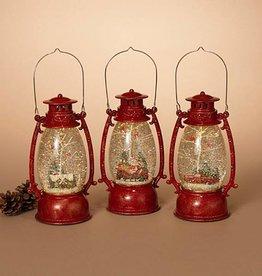"9.5""H B/O Spinning Water Globe Lantern, 3 Asst --choice of one"