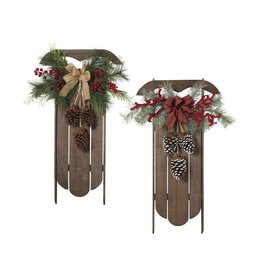 """29"""" Wood Hanging Sleigh--choice of one"""