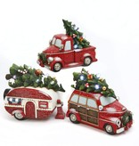"""10.25"""" Lighted Resin Holiday Truck--3 asst--choice of one"""