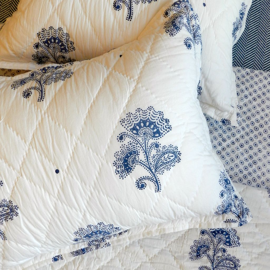 Blue Flower Bedding