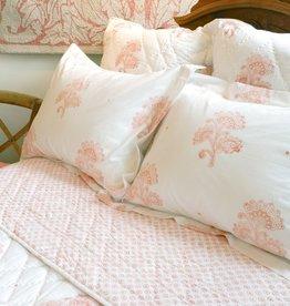 Coral Pink Flower Bedding