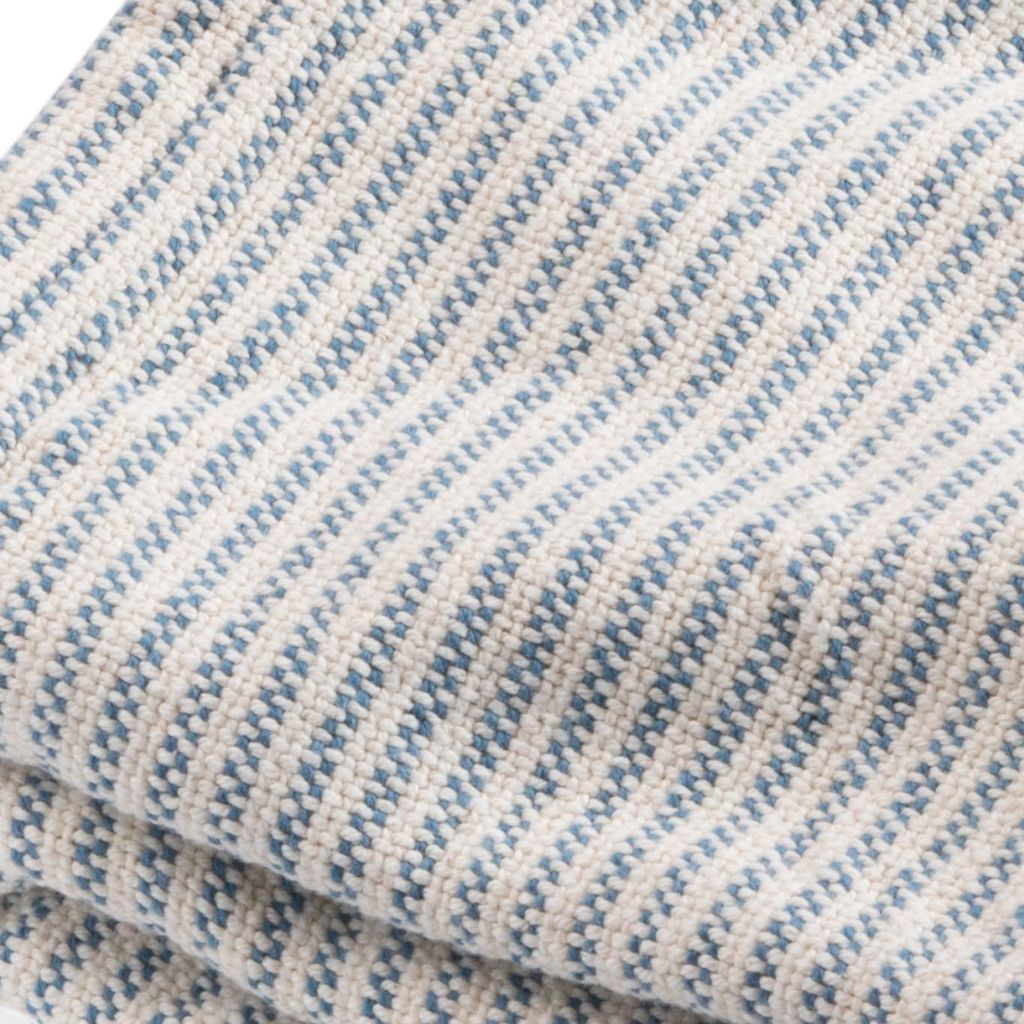 Ticking Blue Blanket
