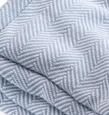 Blanket - Misty Blue Herringbone