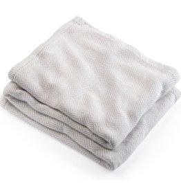 Blanket - Oyster Herringbone