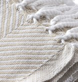 Throw - Oyster Herringbone