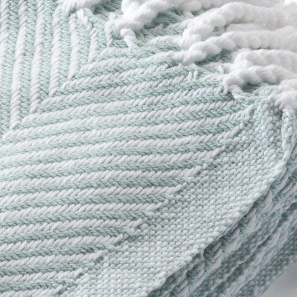 Surf Herringbone Throw