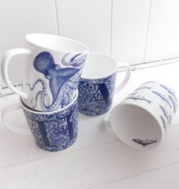 Blue Depiction Mug