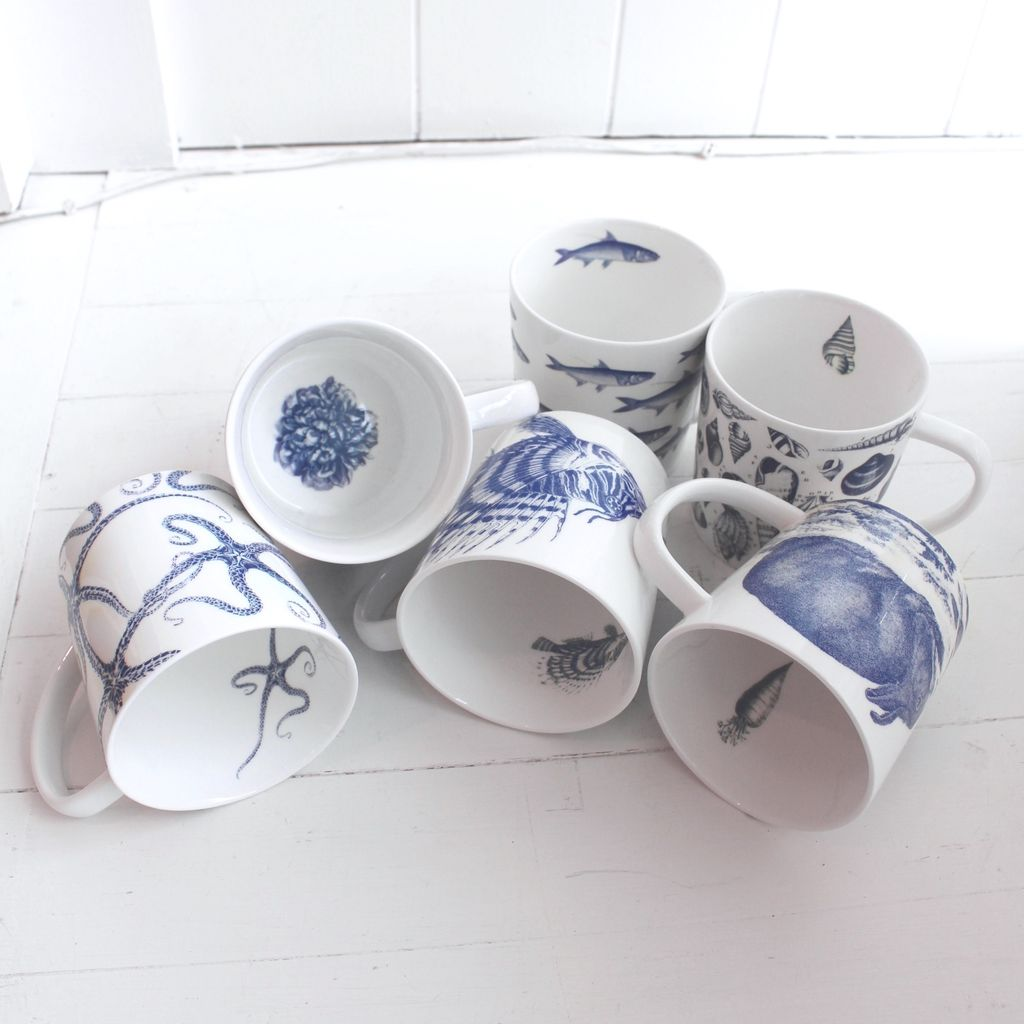 Blue Depiction Mug