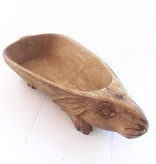 Wood Rabbit Bowl