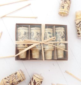 Wine Cork Candle Set