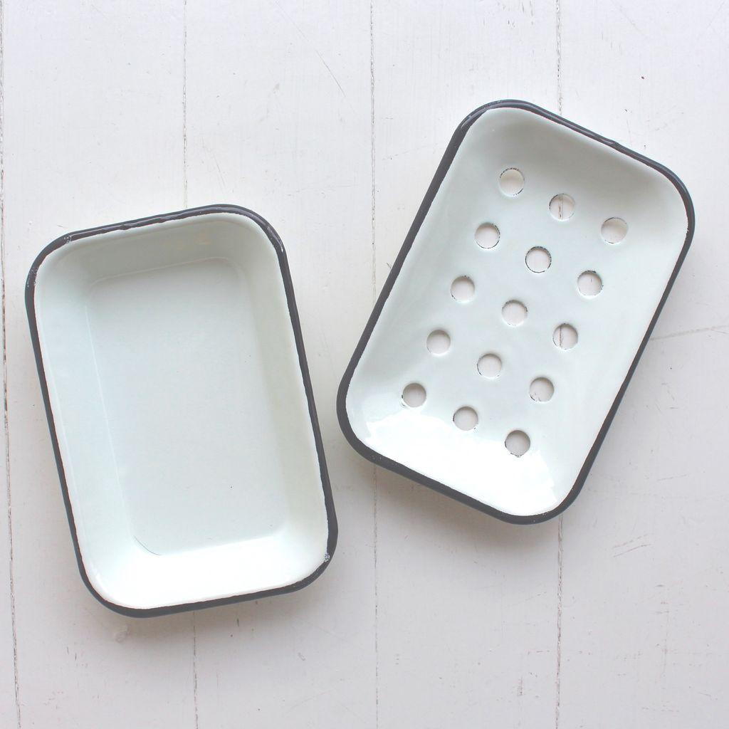 Enamel Soap Dish White