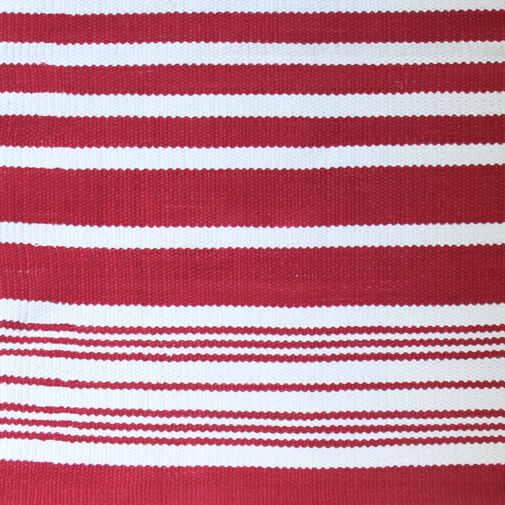 Harbor Red Stripe Cotton Rug ...