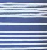 Harbor Blue Stripe Cotton Rug