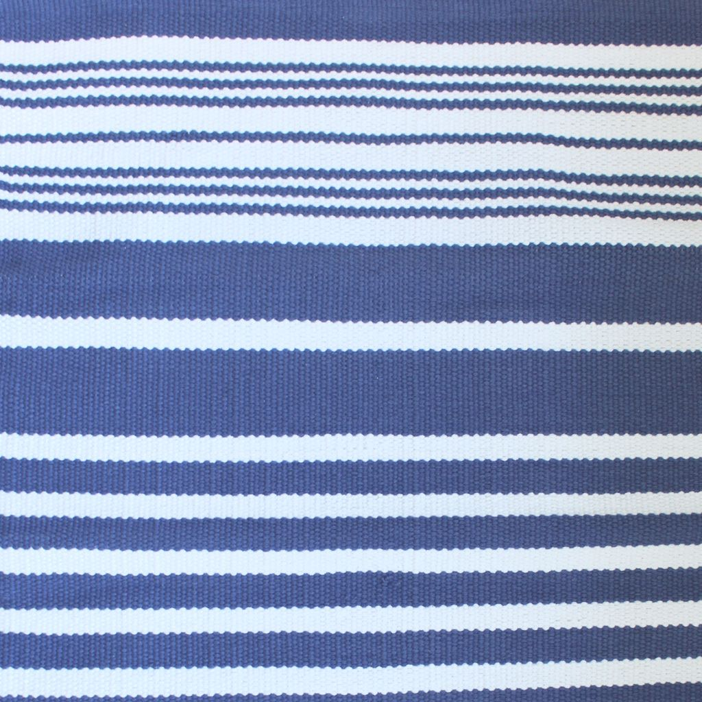 Harbor Blue Stripe Cotton Rug