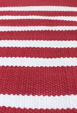 Harbor Red Stripe Cotton Rug