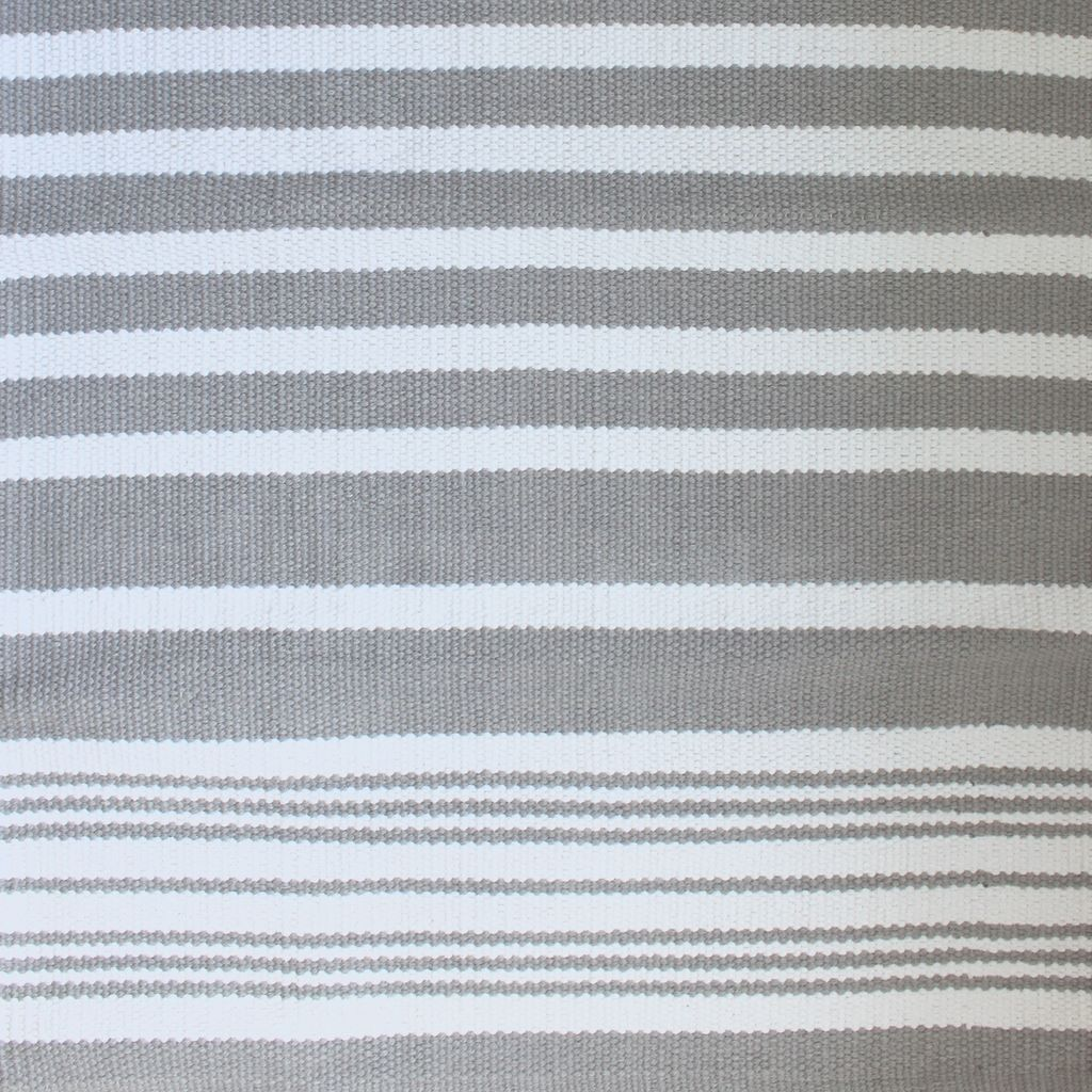Harbor Grey Stripe Cotton Rug