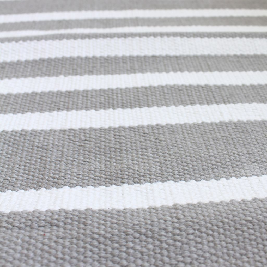 Harbor Grey Stripe Cotton Rug Jo Ellen Designs