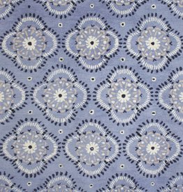 Forget Me Not Wool Hooked Rug