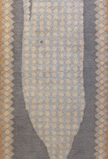 O'Whale Gray Wool Hooked Rug