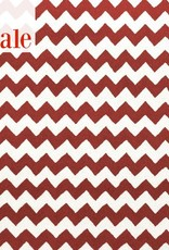 Ziggly Red Wool Hooked Rug