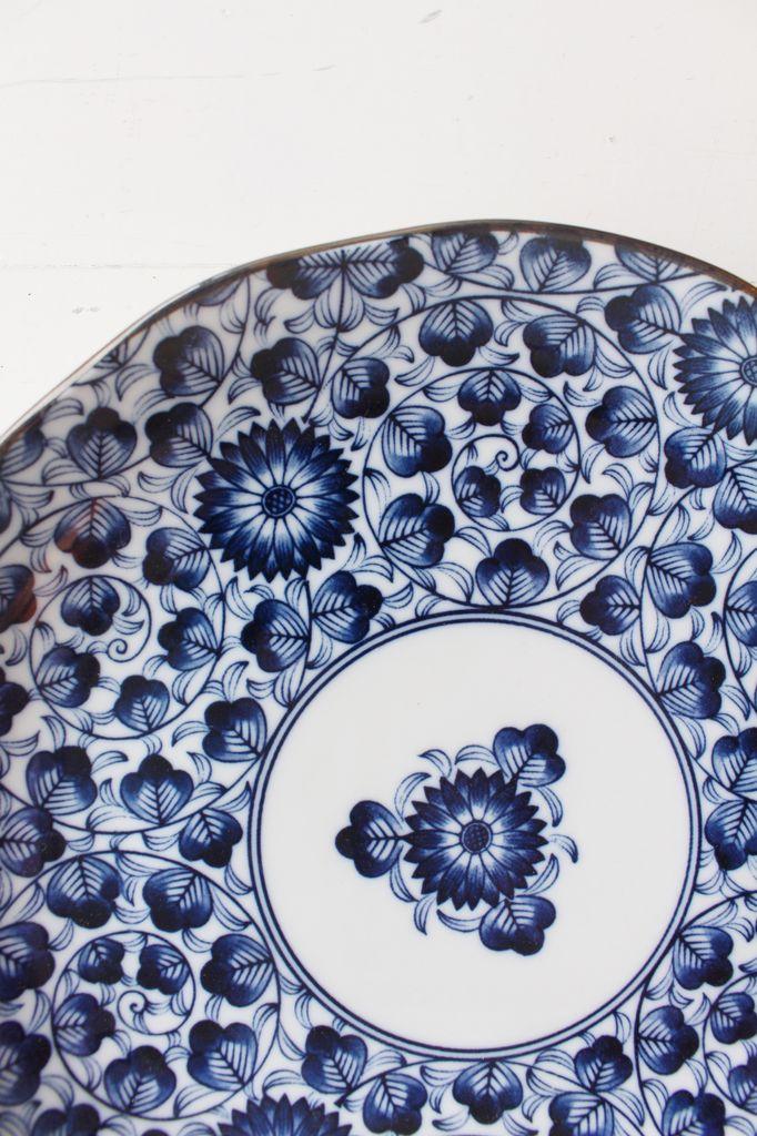 Blue Karakusa Plate