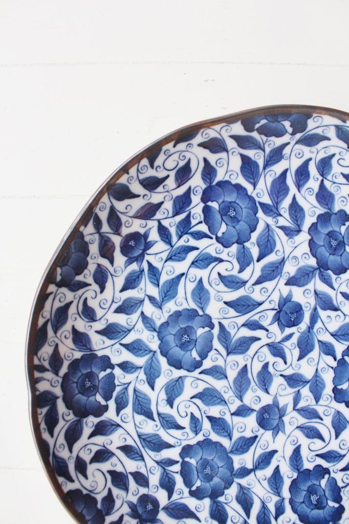 Plate - Blue Koimari