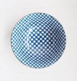 Bowl - Blue Checker