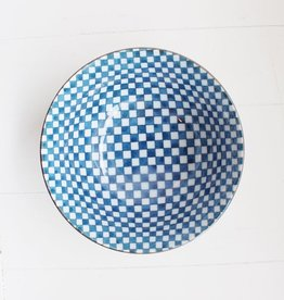 Blue Checker Bowl