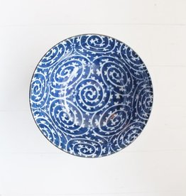 Blue Dark Curl Bowl