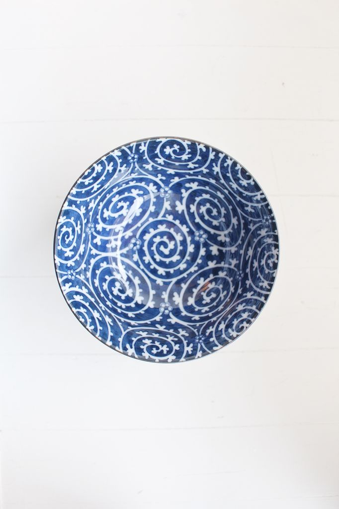 Bowl - Blue Dark Curl