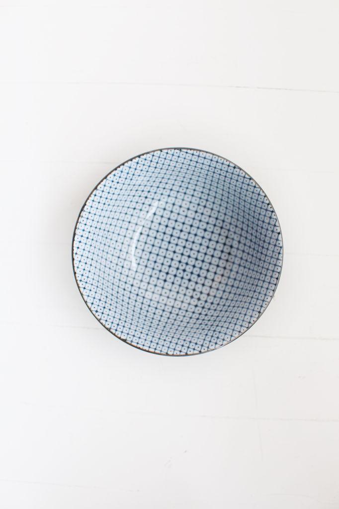 Blue Shibori Bowl