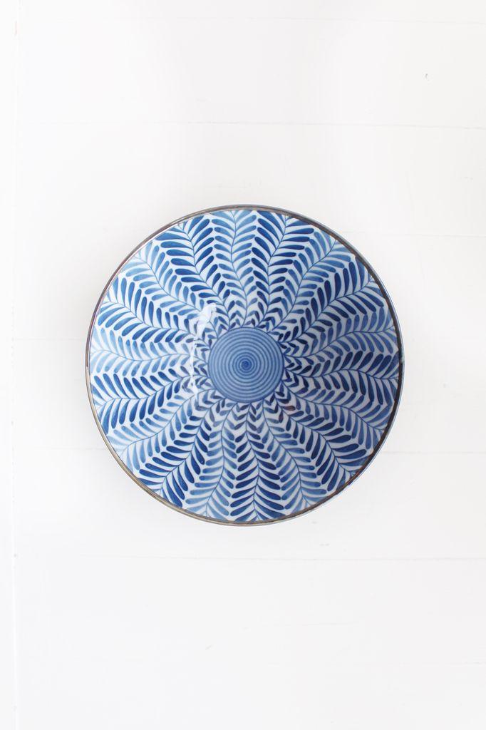 Blue Deep Fern Bowl