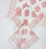 Napkin - Coral Sea Fan Block Printed