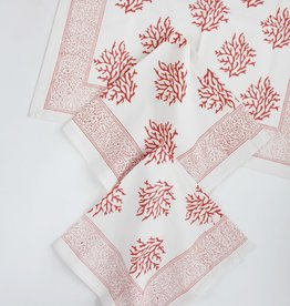 Napkin - Coral Sea Fan Block Printed
