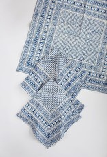 Napkin - Nona Blue Block Printed
