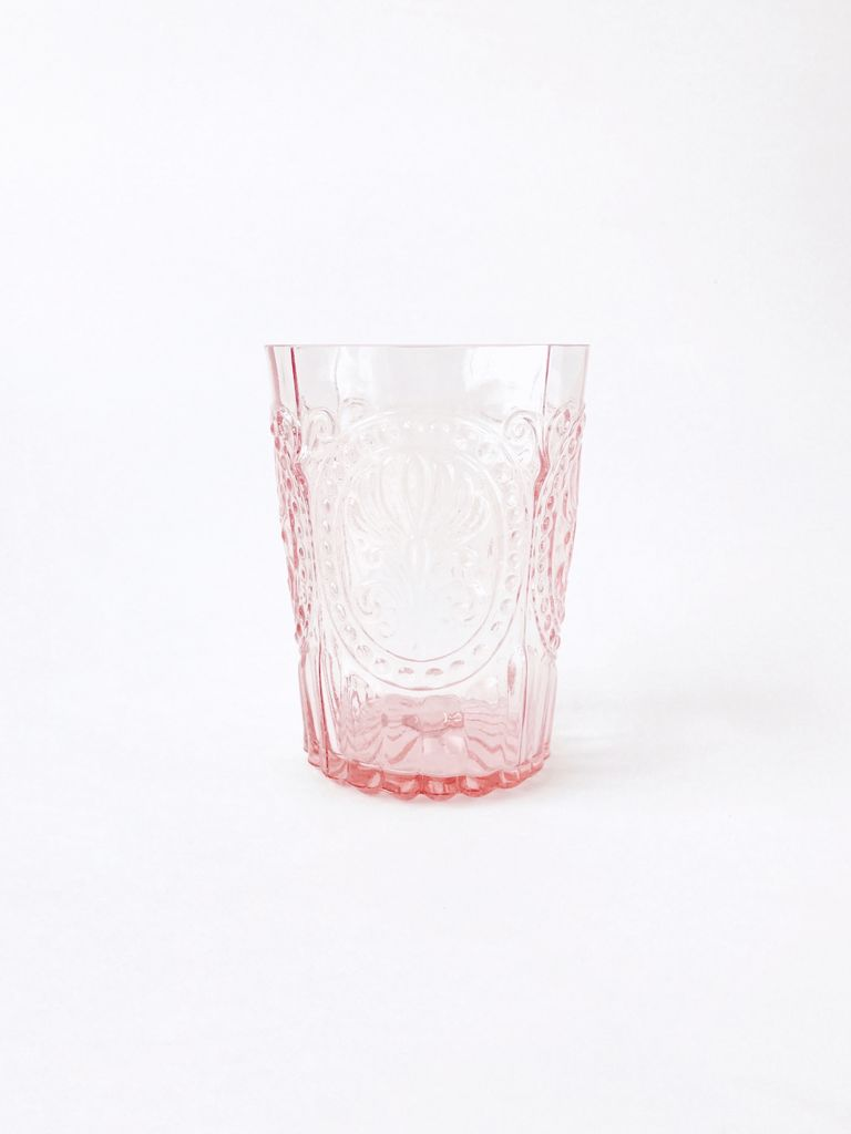 Water Glass Pink