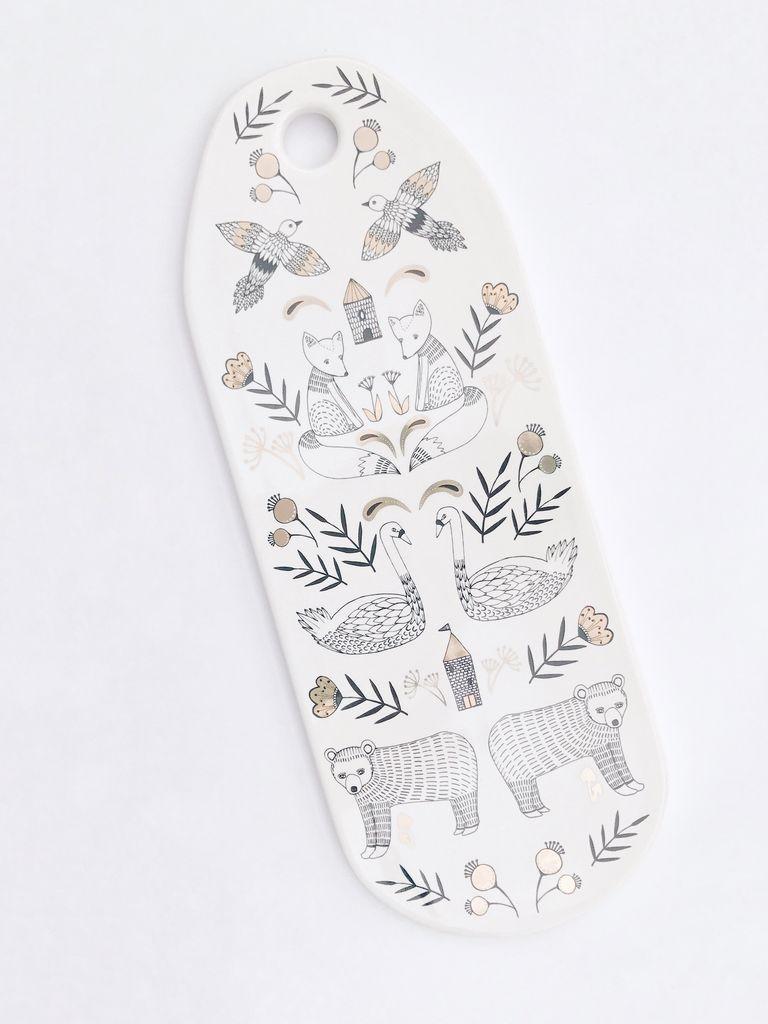 Wild Tale Ceramic Cheese Board