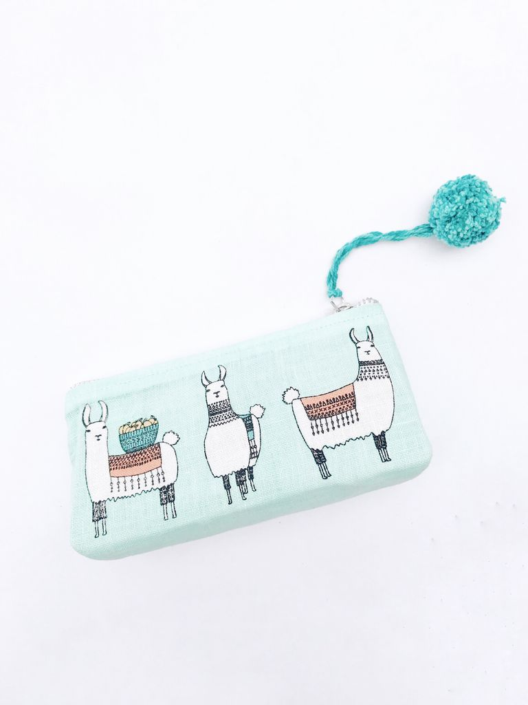 Llama Cosmetic Case Small