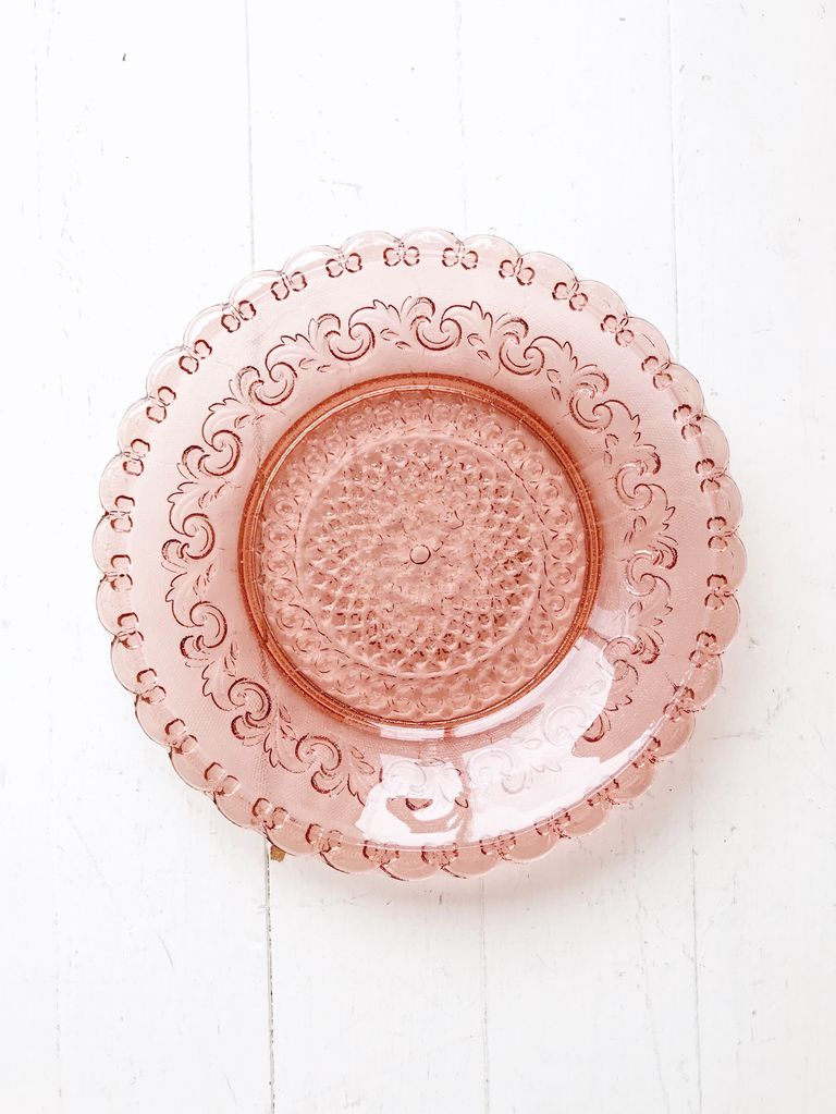 Glass Plate Pink