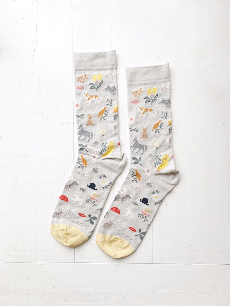 Calf Socks Grey Hat