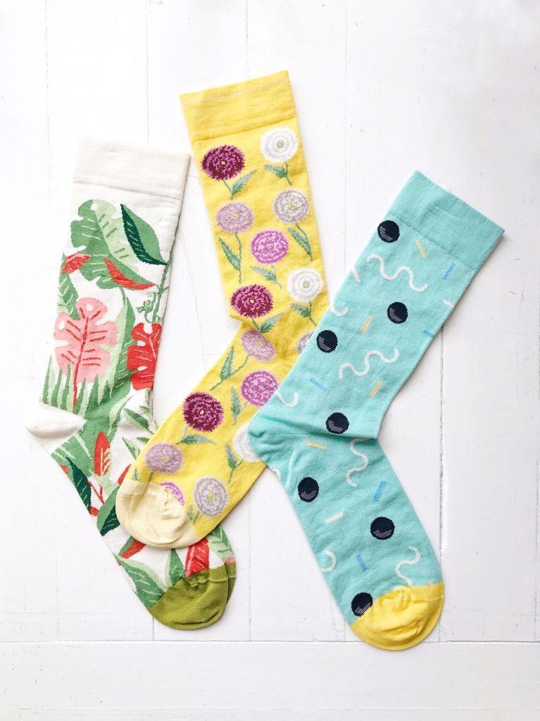 Calf Socks Azure Stripe